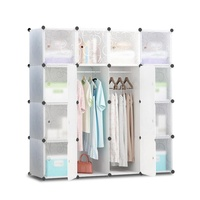 Cube Storage Cabinet 16XL Cubes DIY Shelves Cupboard Wardrobe Shoe Shelf White
