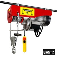 Giantz Electric Hoist Winch 250KG Rope Tool Remote Chain Lifting Cable 18M