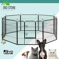 "i.Pet 32"" 8 Panel Pet Dog Playpen Puppy Exercise Cage Enclosure Fence PlayPen XL"