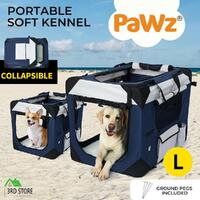 Pet Carrier Bag Dog Puppy Spacious Outdoor Travel Hand Portable Crate L