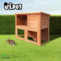 i.Pet 93cm Tal Wooden Pet Wooden Cage Chicken Coop Guinea Pig