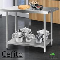 Cefito Stainless Steel Kitchen Benches Work Bench Food Prep Table 1219x610mm 430