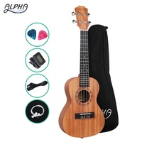 "Alpha 26"" Tenor Ukulele Mahogany Ukuleles Uke Hawaii Guitar w/ Carry Bag Tuner"