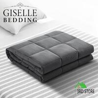 Giselle Bedding 5KG Cotton Weighted Blanket Heavy Gravity Adult Grey